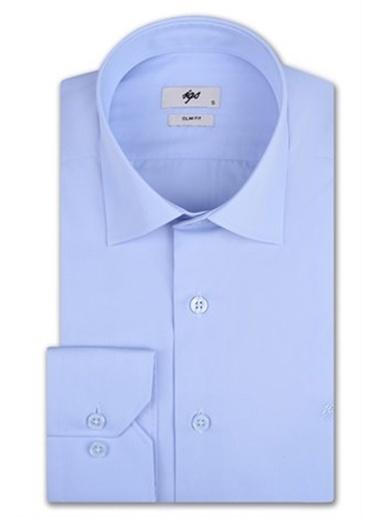 IGS Erkek A.Mavı Slım Fıt / Dar Kalıp Std Gömlek Mavi